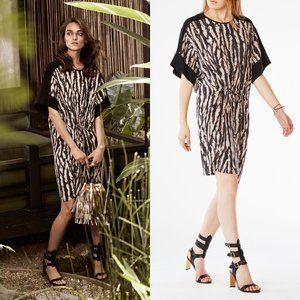 BCBGMAXAZRIA Nicolette Leopard Print Silk Dress